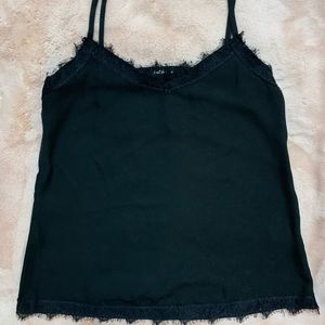 Tops - Black lace cami top